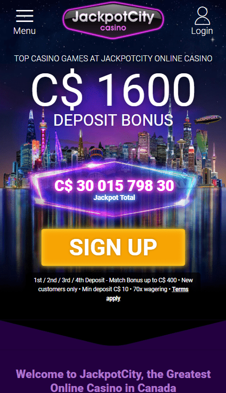 Jackpot city casino on mobile