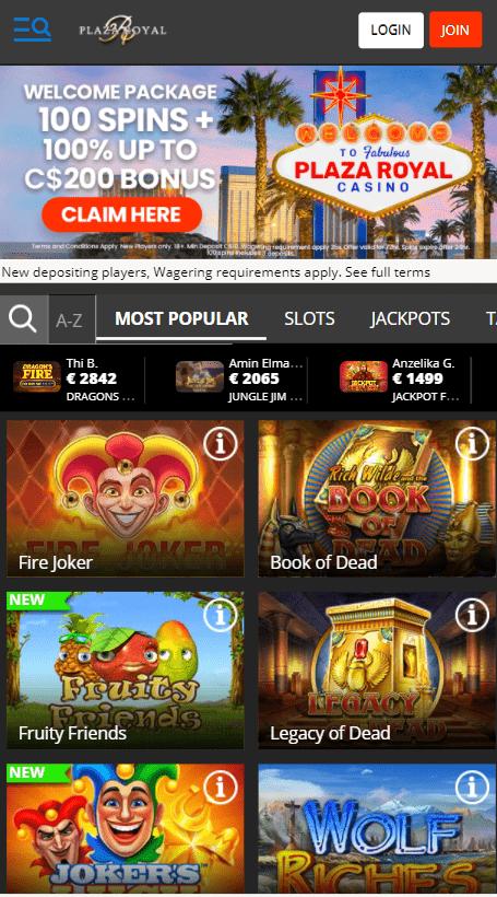 Plaza Royal Casino  mobile