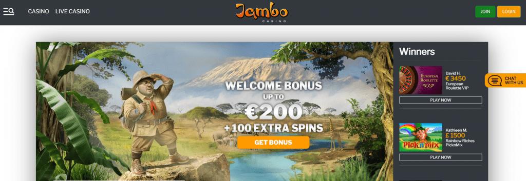 Jambo Casino Welcome offer