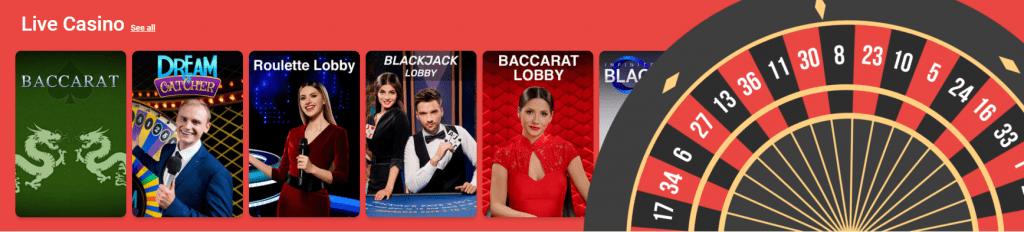 YoYoCasino live casino games