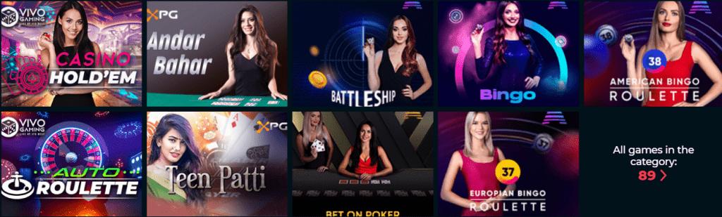 Vesper Casino Live Casino